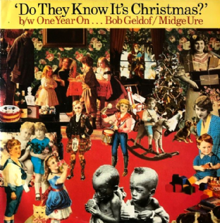 "Band Aid ‎- Do They Know It's Christmas? (1985 Reissue) (12"") (VG-/G-VG)"